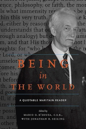"Reception for ""Being in the World: A Quotable Maritain Reader"""