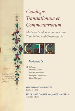 Catalogus Translationum et Commentariorum, Volume XI
