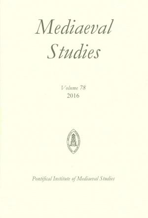 Mediaeval Studies Volume 78 (2016)