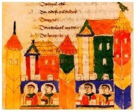 Illustration from Rabanus Maurus, De rerum naturis. Montecassino, MS 132, p. 340 (detail) © Archivio dell'Abbazia, Montecassino