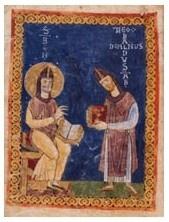 A miniature from Montecassino, MS 73, fol. iv © Archivio dell'Abbazia, Montecassino